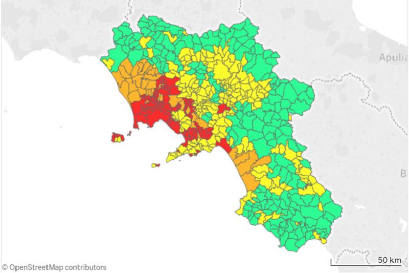 Aree rurali in Campania: e tu a quale macroarea appartieni?