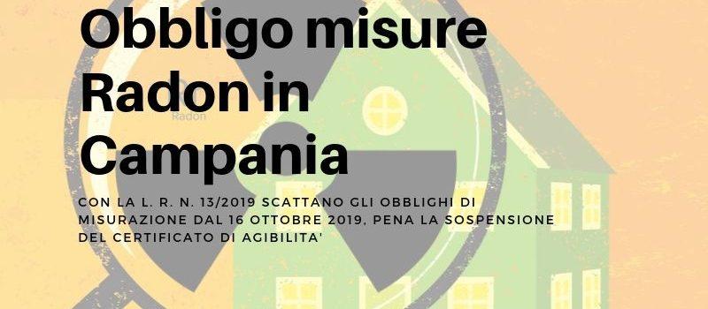 Radon Campania: scatta l'obbligo misure dal 16 Ottobre